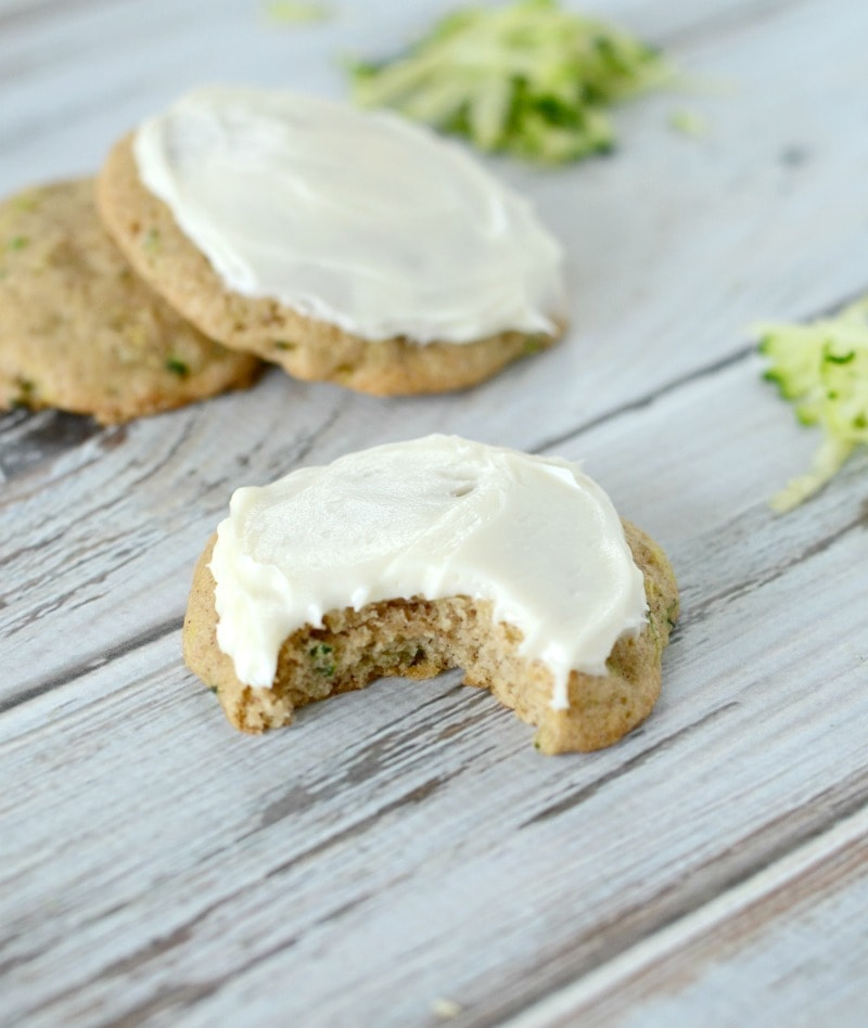 Zucchini Cookies with Cream Cheese Frosting - soft, fluffy, and oh so yummy!