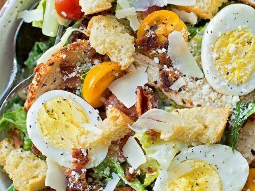 Easy Chicken Caesar Salad Recipe Lil Luna
