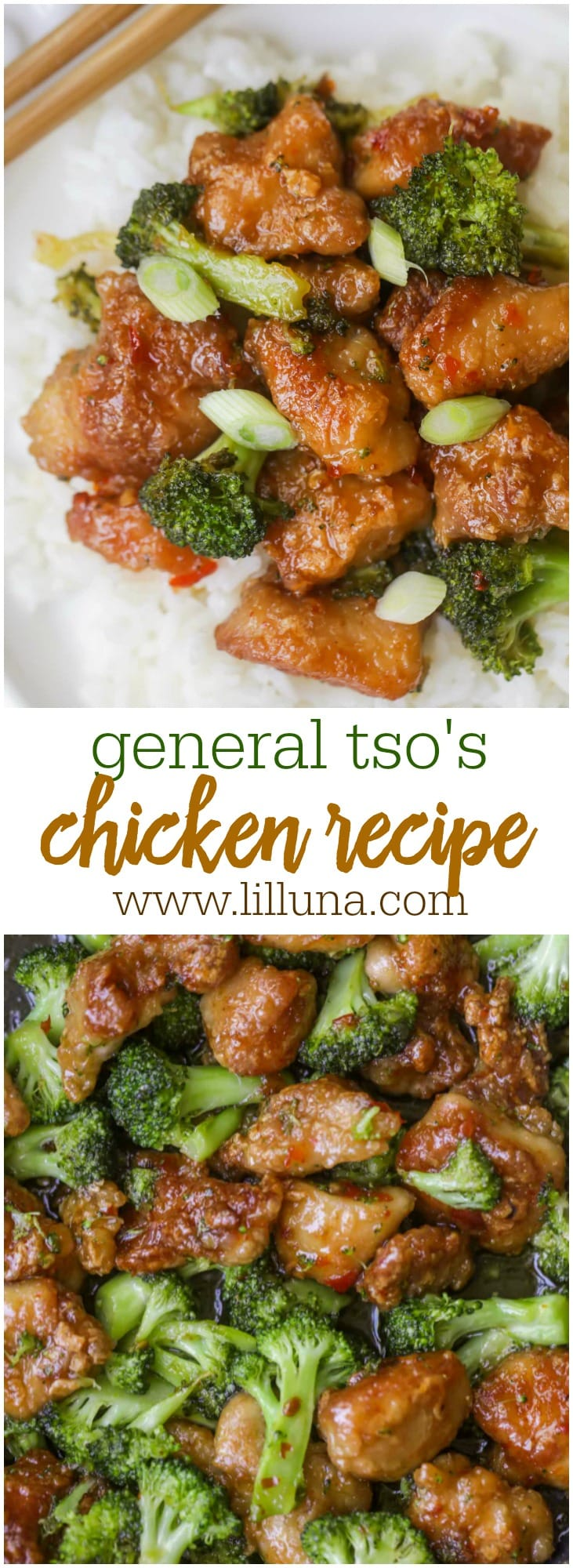 Delicious General Tso's chicken - a sweet and fried chicken recipe that is out of this world delicious and includes broccoli.