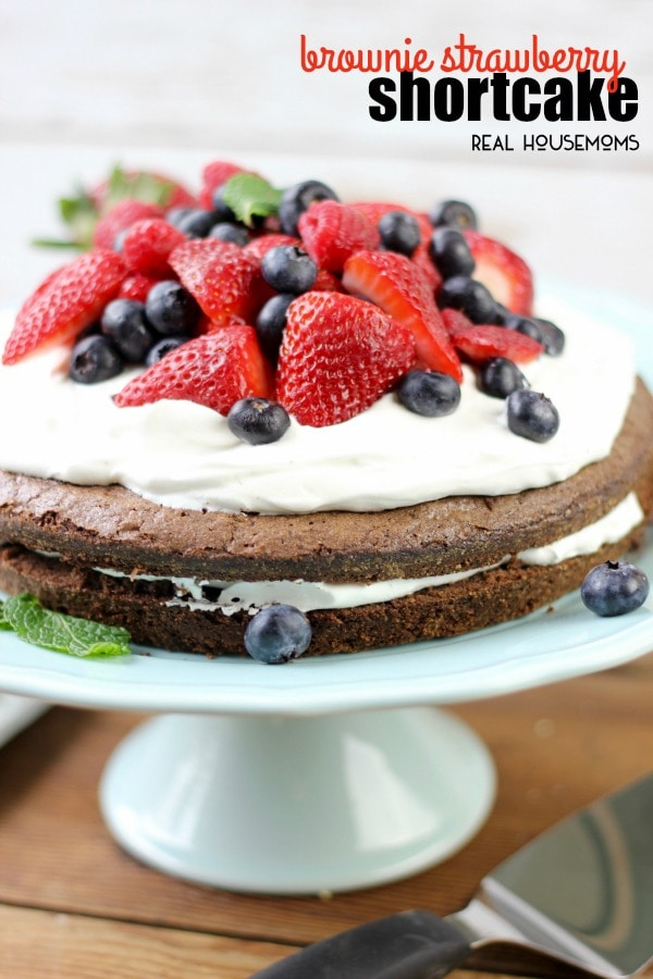 Brownie Strawberry Shortcake