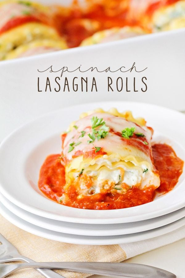 Cheesy Spinach Lasagna Rolls