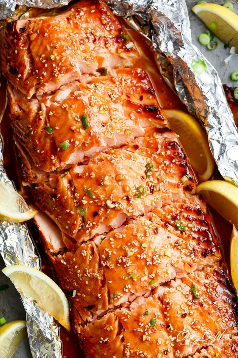 Honey Sesame Salmon in Foil