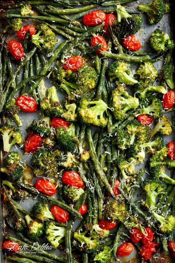 Sheet Pan Garlic Parmesan Roasted Broccoli