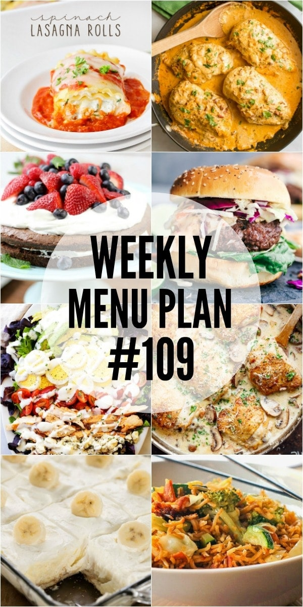 A delicious collection of dinner, side dish and dessert recipes to help you plan your weekly menu and make life easier!