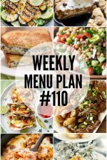 Weekly Menu Plan #110