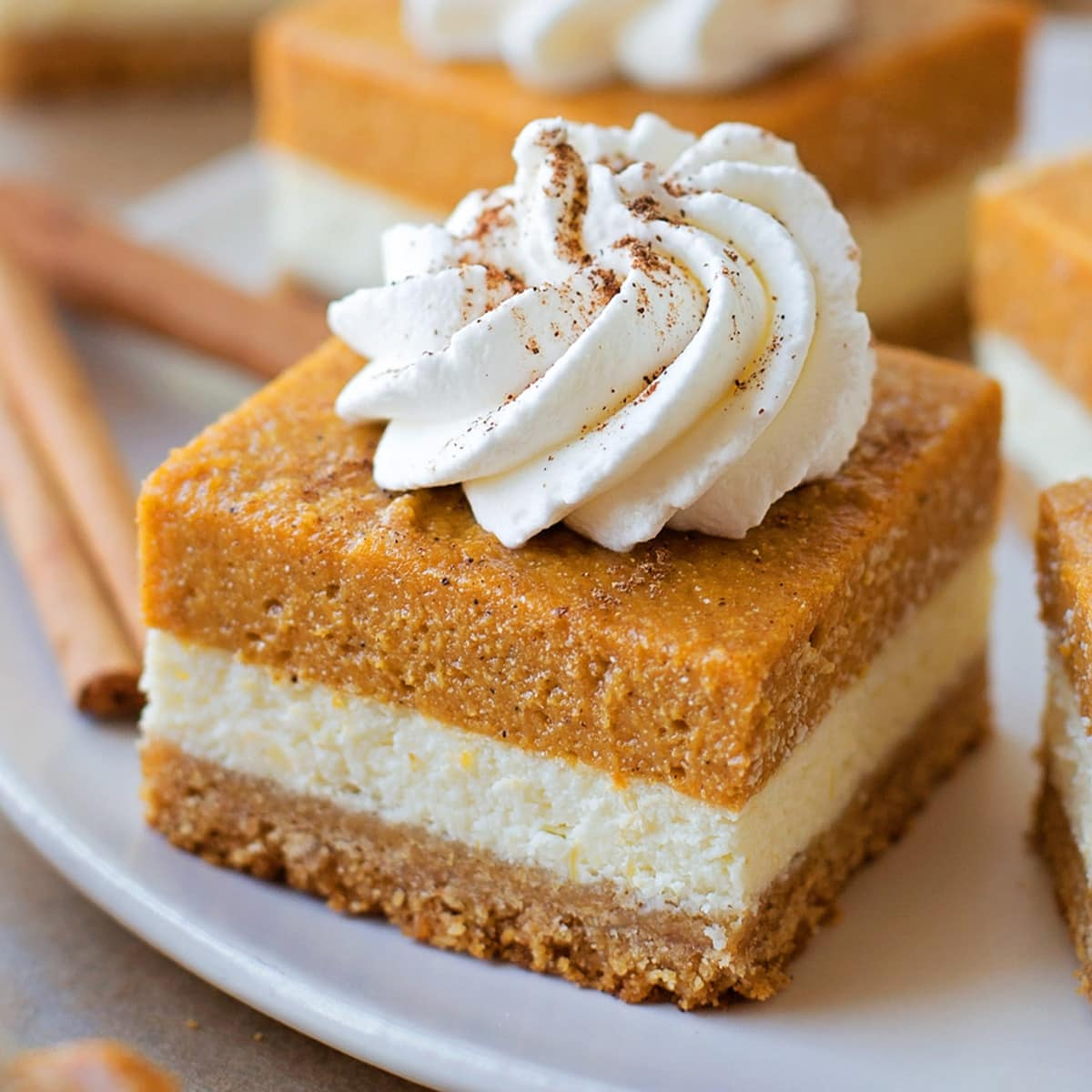 The Best Pumpkin Cheesecake Bars A Fall Favorite Lil Luna