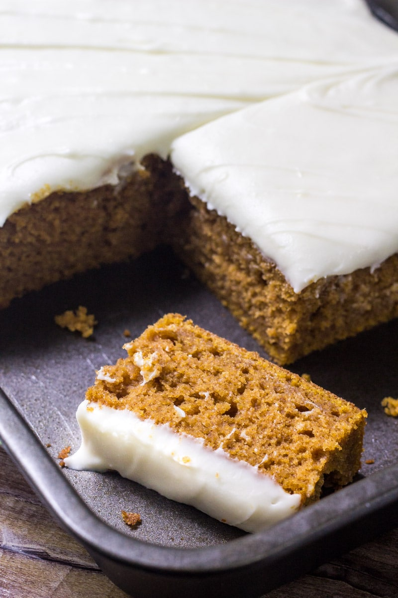Pumpkin Cake Recipe in a baking pan