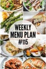 Weekly Menu Plan #115