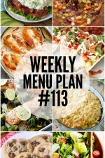 Weekly Menu Plan #113