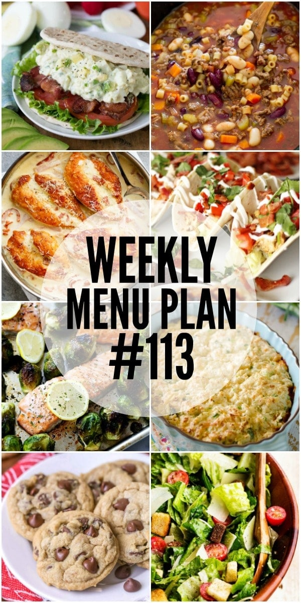 A delicious collection of side dish, dinner and dessert recipes to help you plan your weekly menu and make life easier!