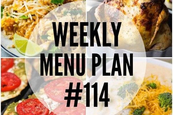Weekly Menu Plan #114
