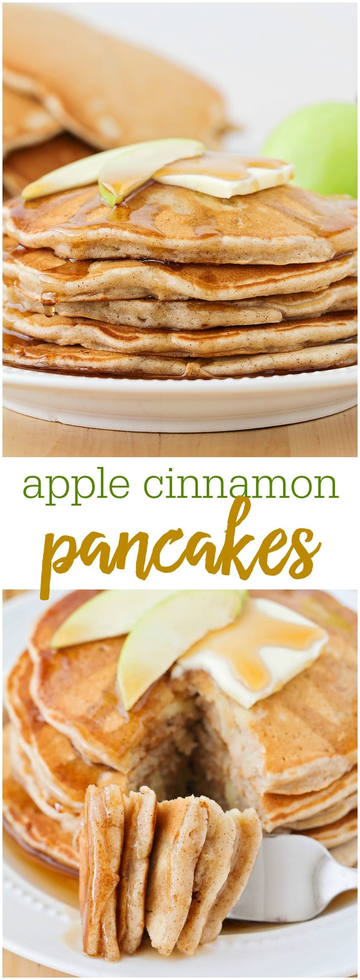 Delicious Cinnamon Apple Pancakes - this recipe is not only flavorful, but it's simple, so tasty and perfect for any breakfast!