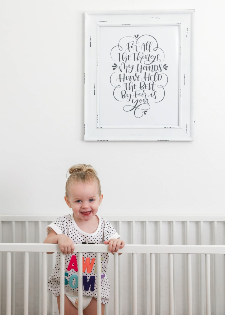 For all the things my hands have held, the best by far is you - free nursery printable + the power of hugs!