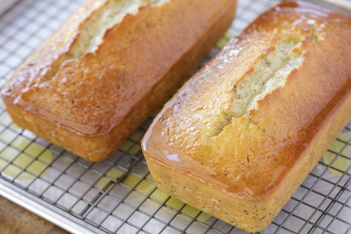 Orange glaze on top of bread