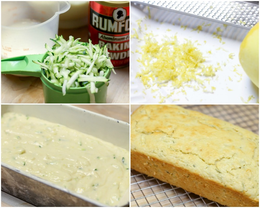 Lemon Zucchini bread process pictures