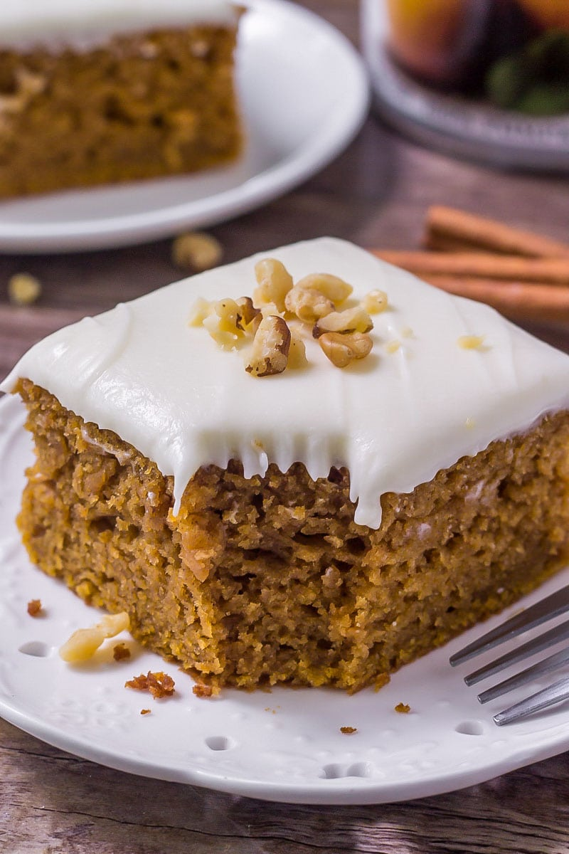 Chocolate Chip Pumpkin Cake With Cream Cheese Frosting