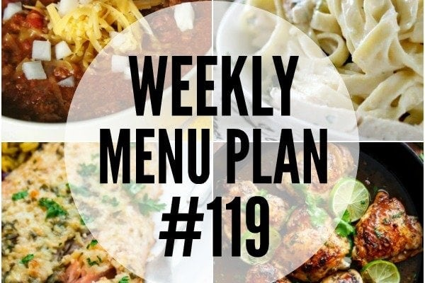 Weekly Menu Plan #119