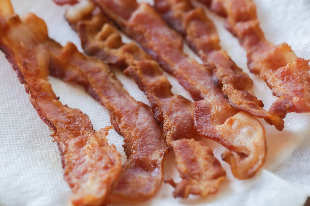 Bacon to put in twice baked potato casserole recipe