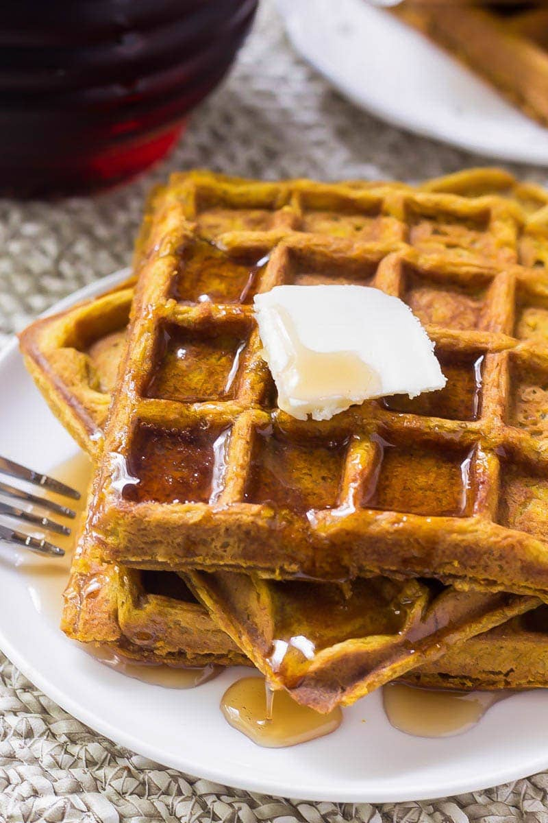 Fluffy Pumpkin Waffles