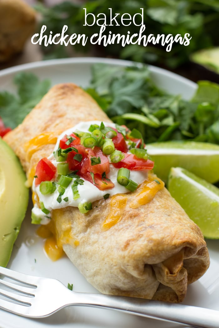 Baked Chicken Chimichanga