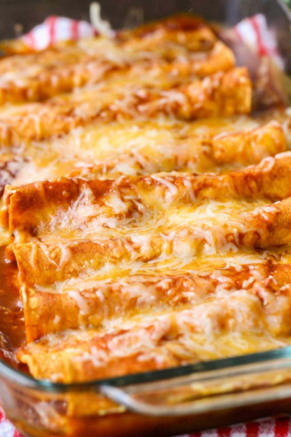 Cheese Enchilada Recipe in baking dish