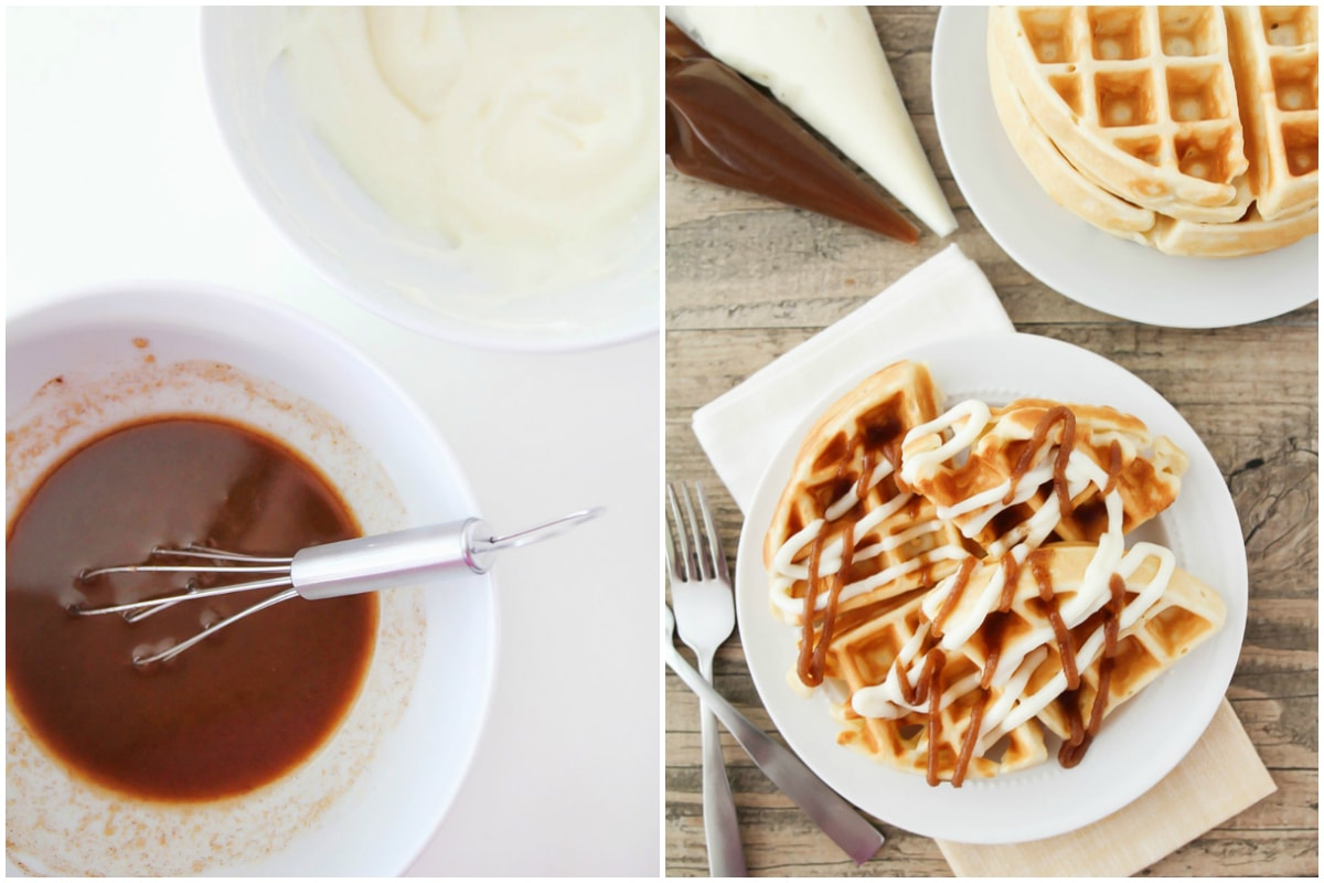 Drizzle for cinnamon waffles