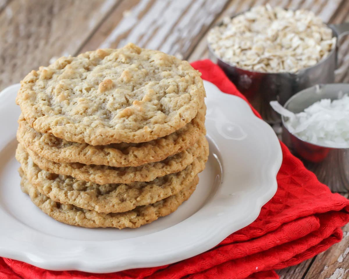 Easy Oatmeal Coconut Cookies Recipe Video Lil Luna