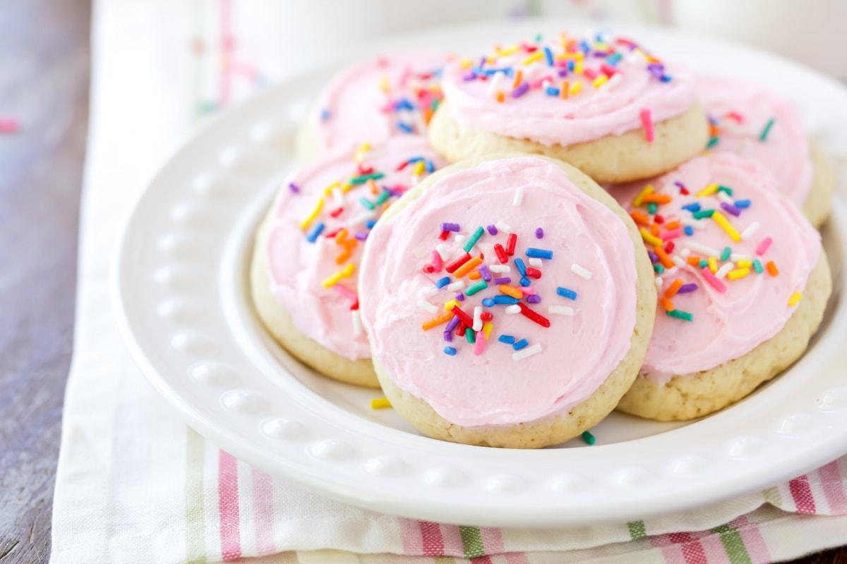 Lofthouse Sugar Cookies recipe on plate