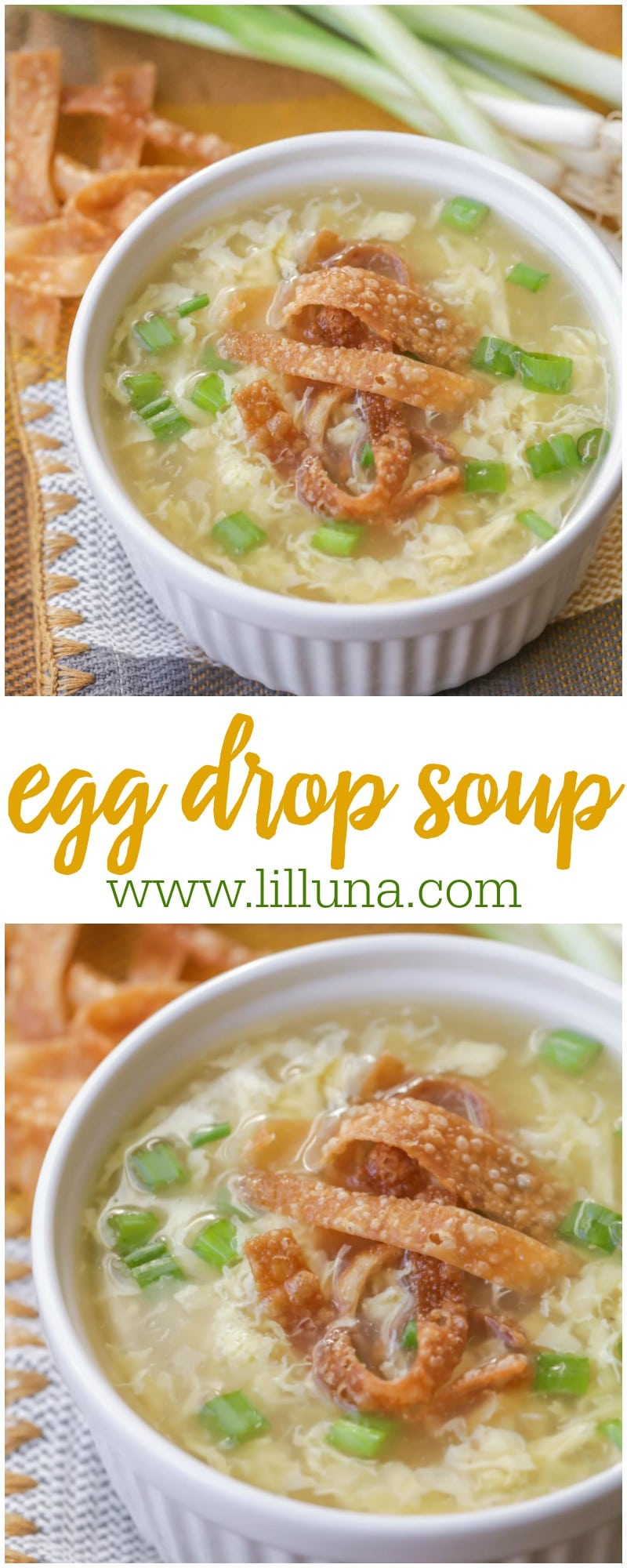 Delicious Egg Drop Soup - now you can make and enjoy one of your favorite restaurant recipes at home. It's so easy and tasty!