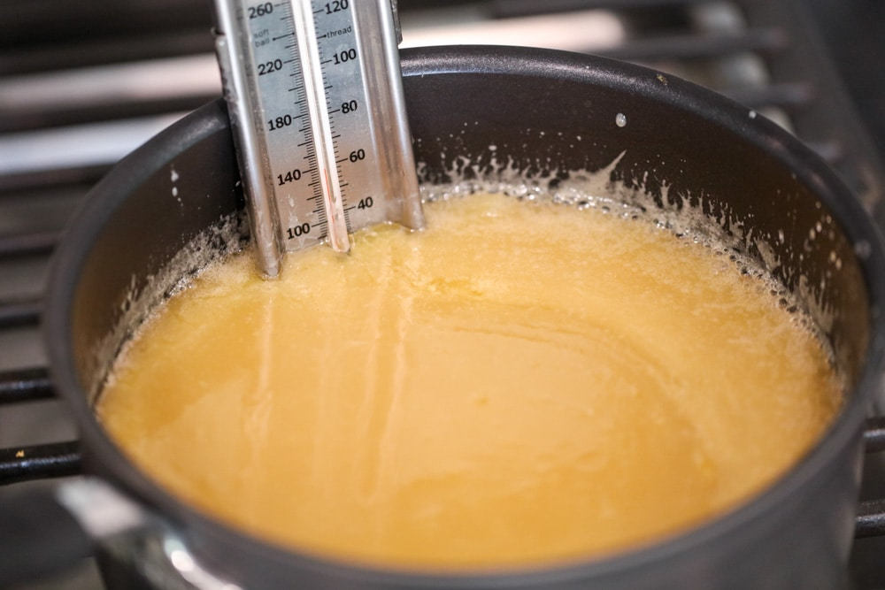 How to make caramel candy on the stove using a candy thermometer