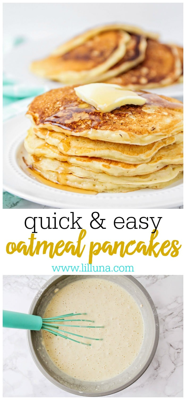 Easy Oat Pancakes