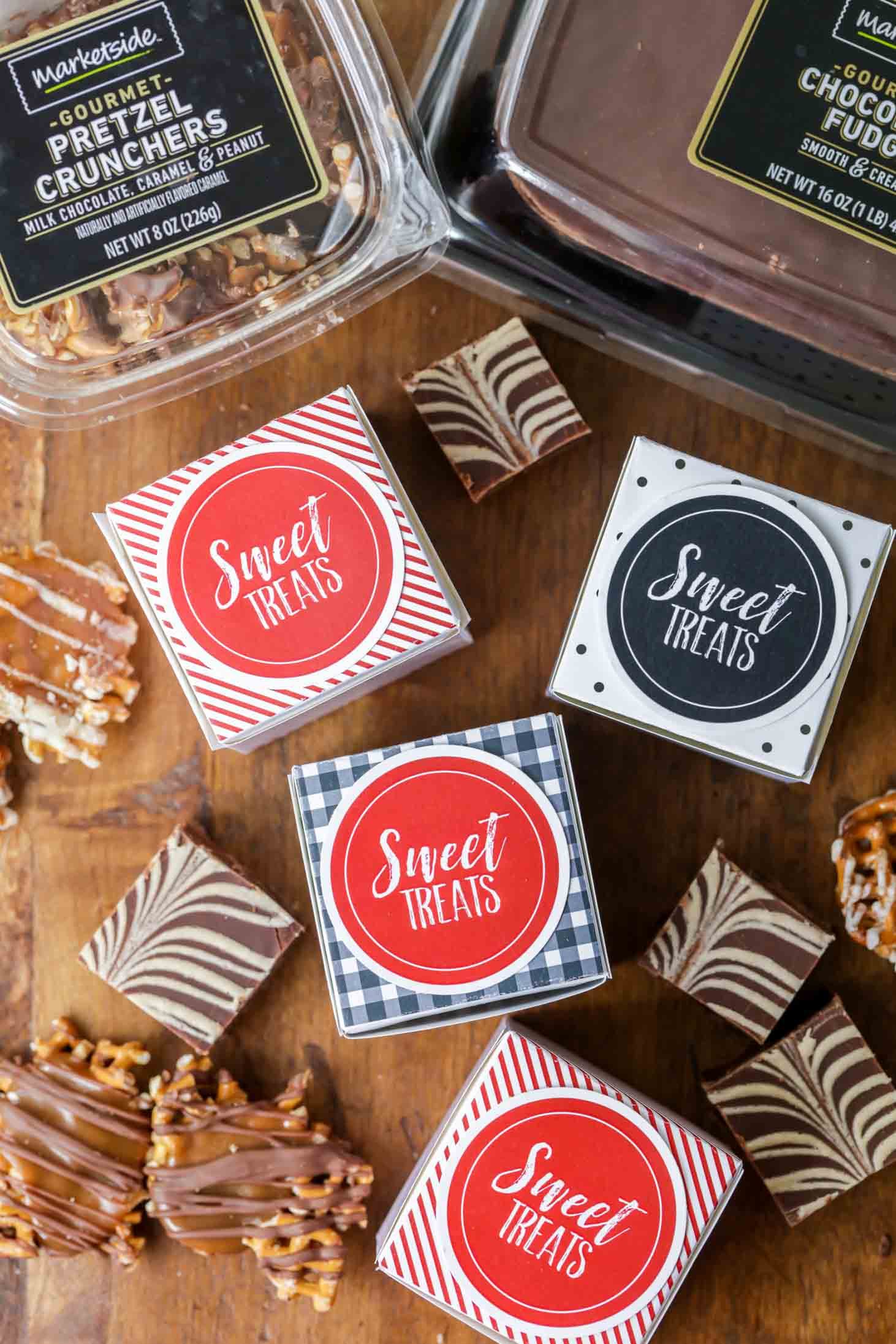 Printable treat boxes