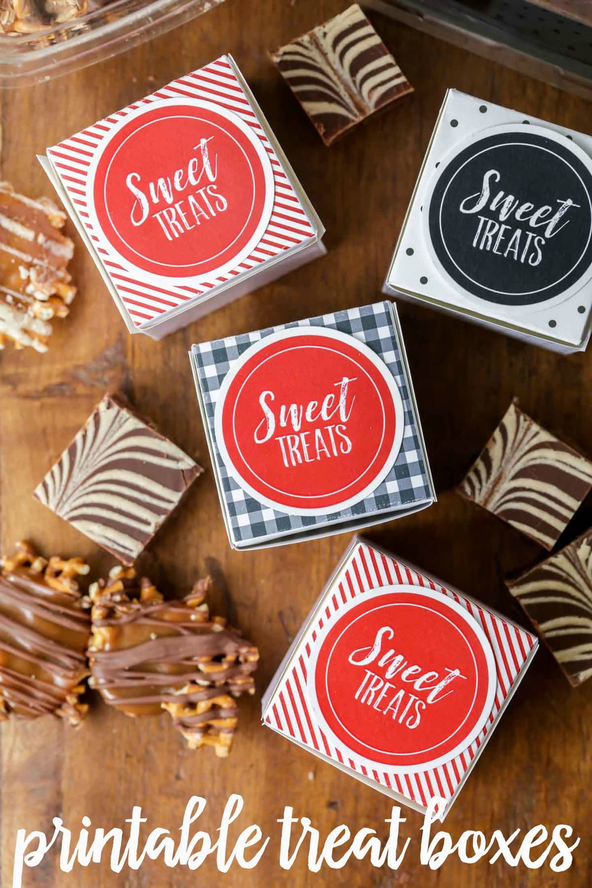 Treat Boxes - free download in several designs!