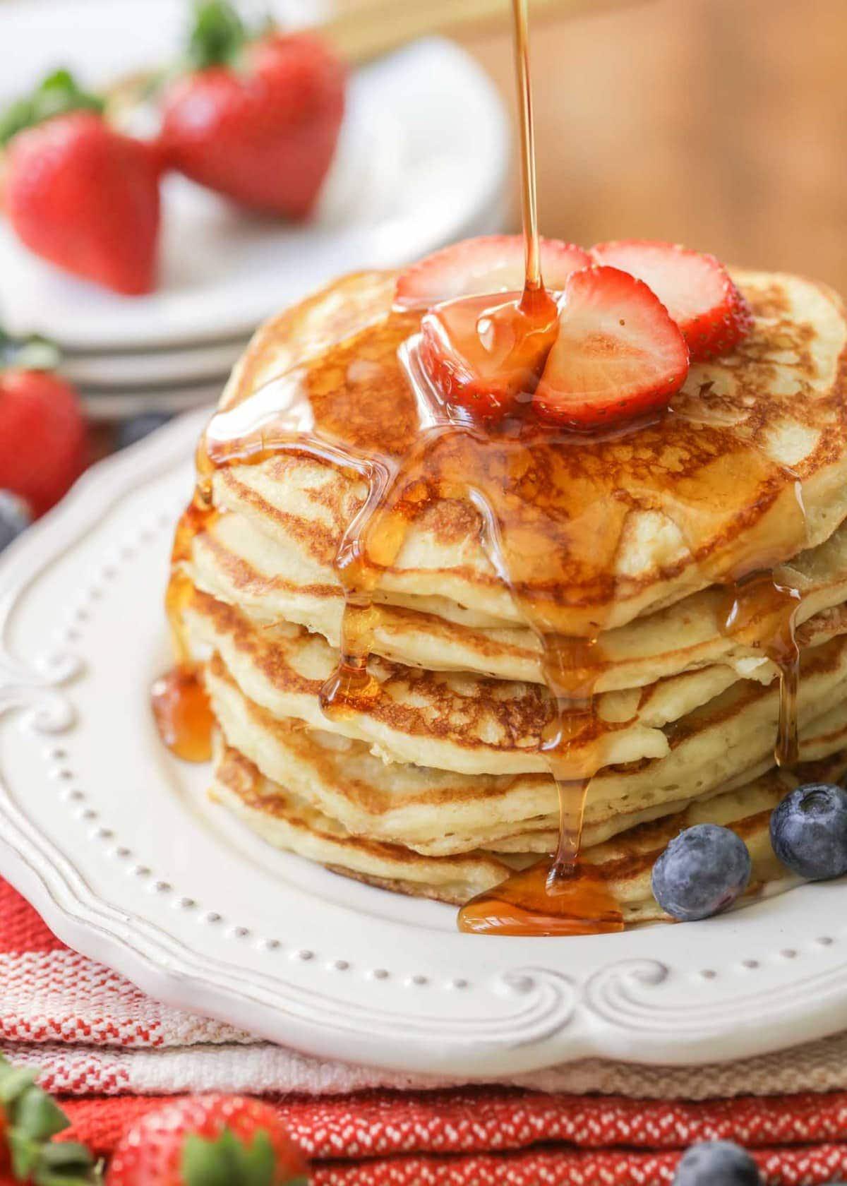 Buttermilk Pancake Recipe from Scratch