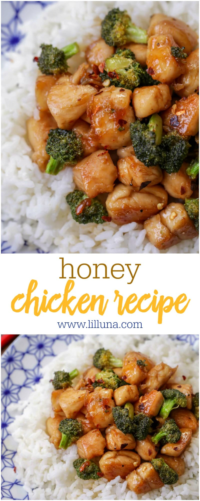 With a bit of spice and sweetness, this Honey Chicken recipe is great served with rice or noodles. Add your favorite veggies to make it even better!