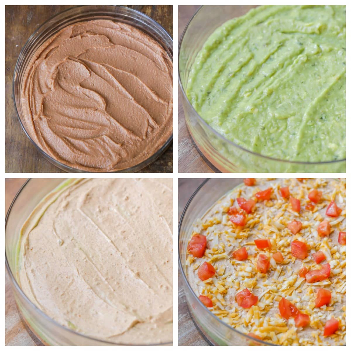 7 Layer Bean Dip Process Pics