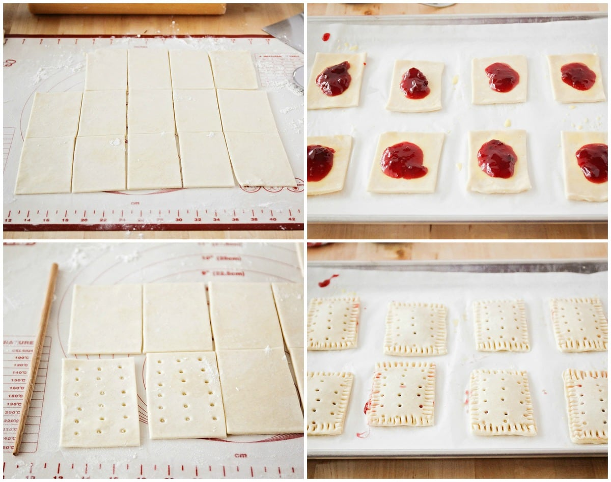 process shots showing how to make homemade pop tarts