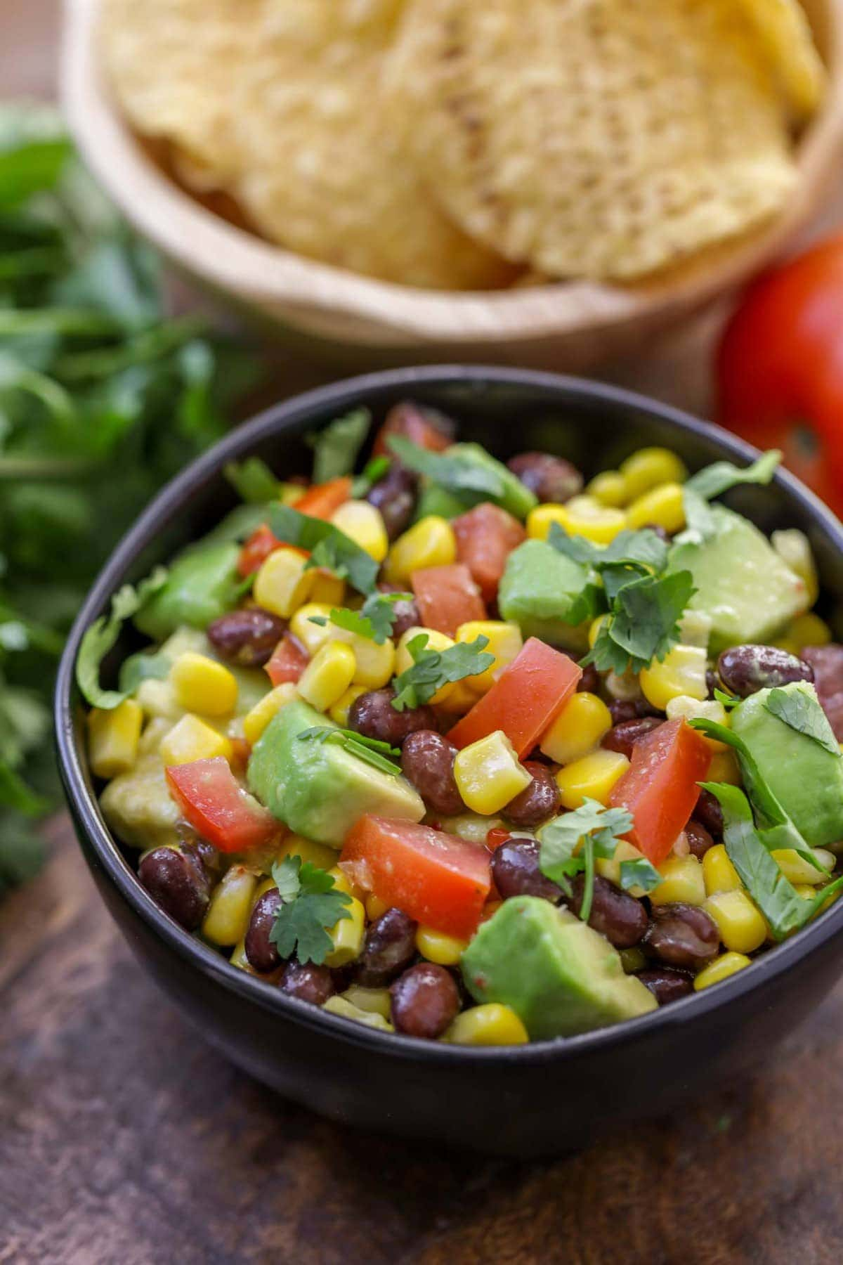 Black Bean Salsa Recipe in bowl