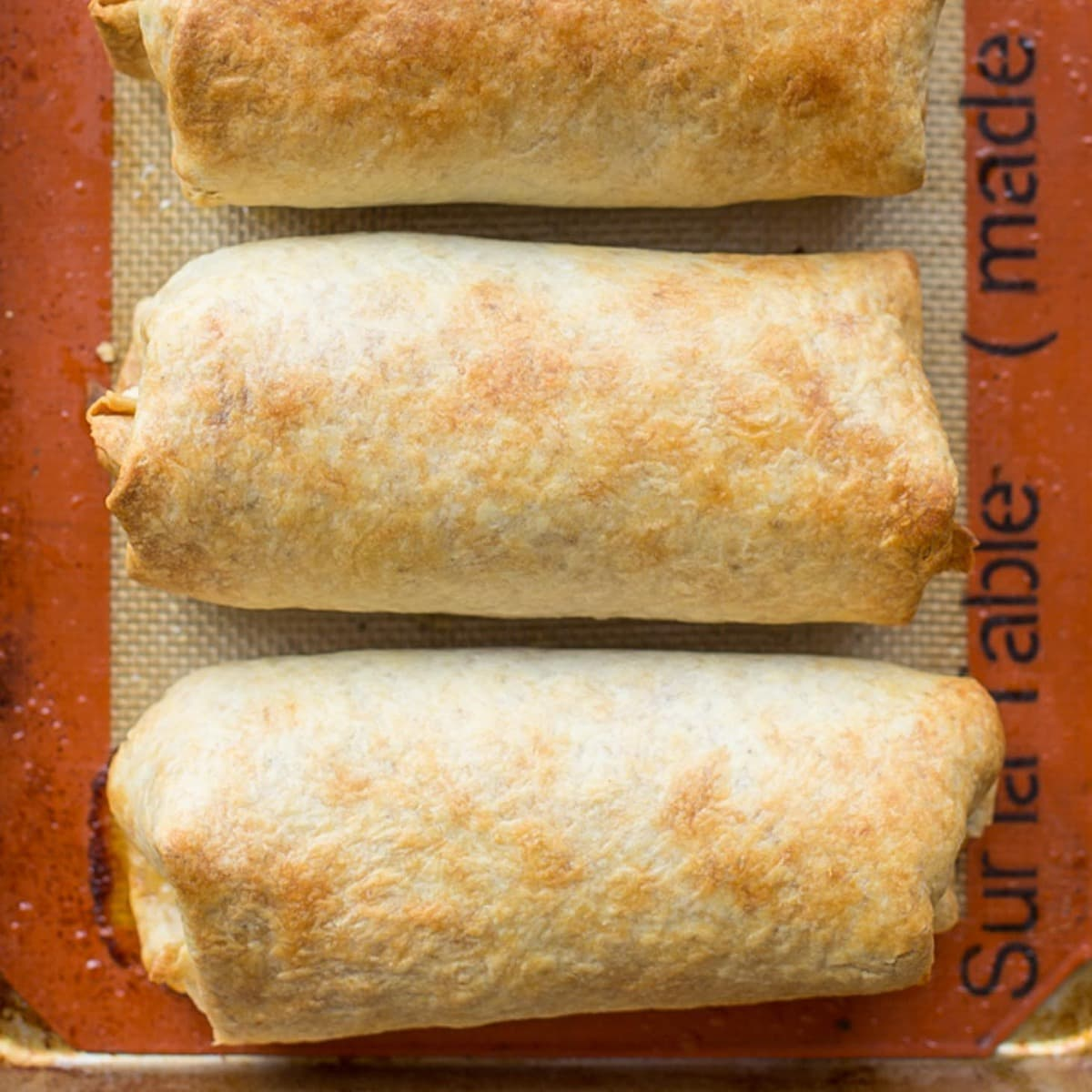 Baked Chimichanga on silpat
