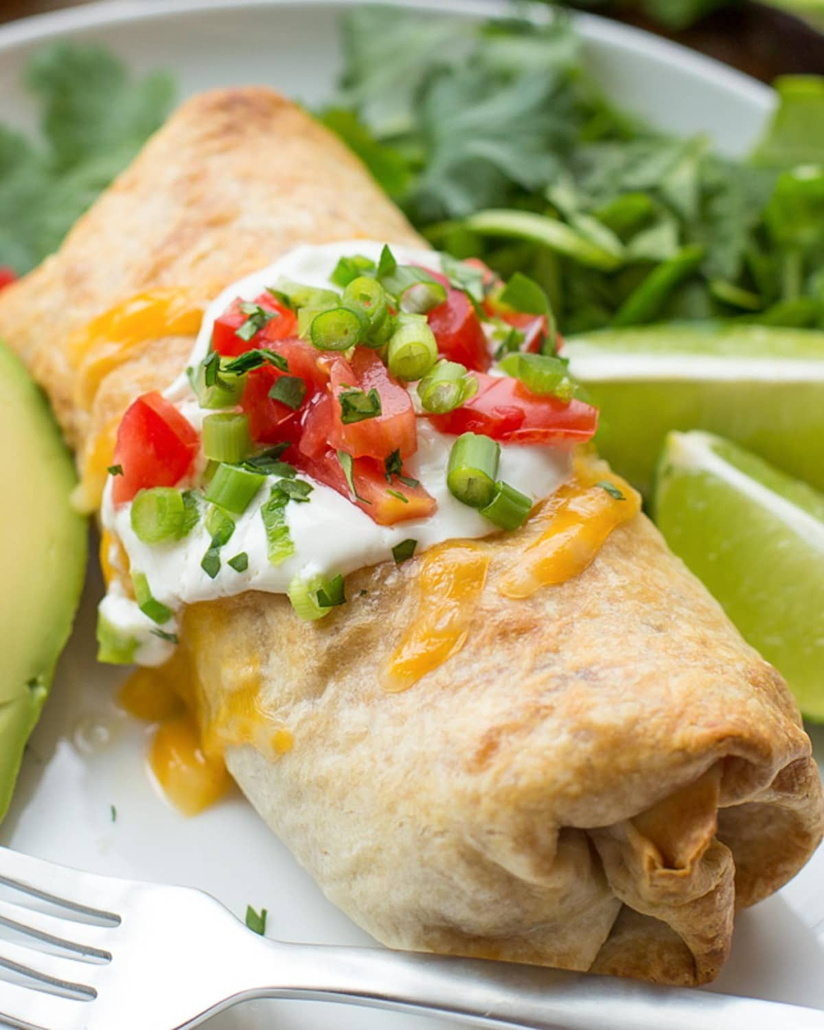 Chimichanga Recipe on plate