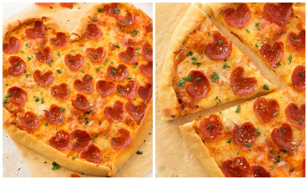 Heart Shaped Pizza Tutorial