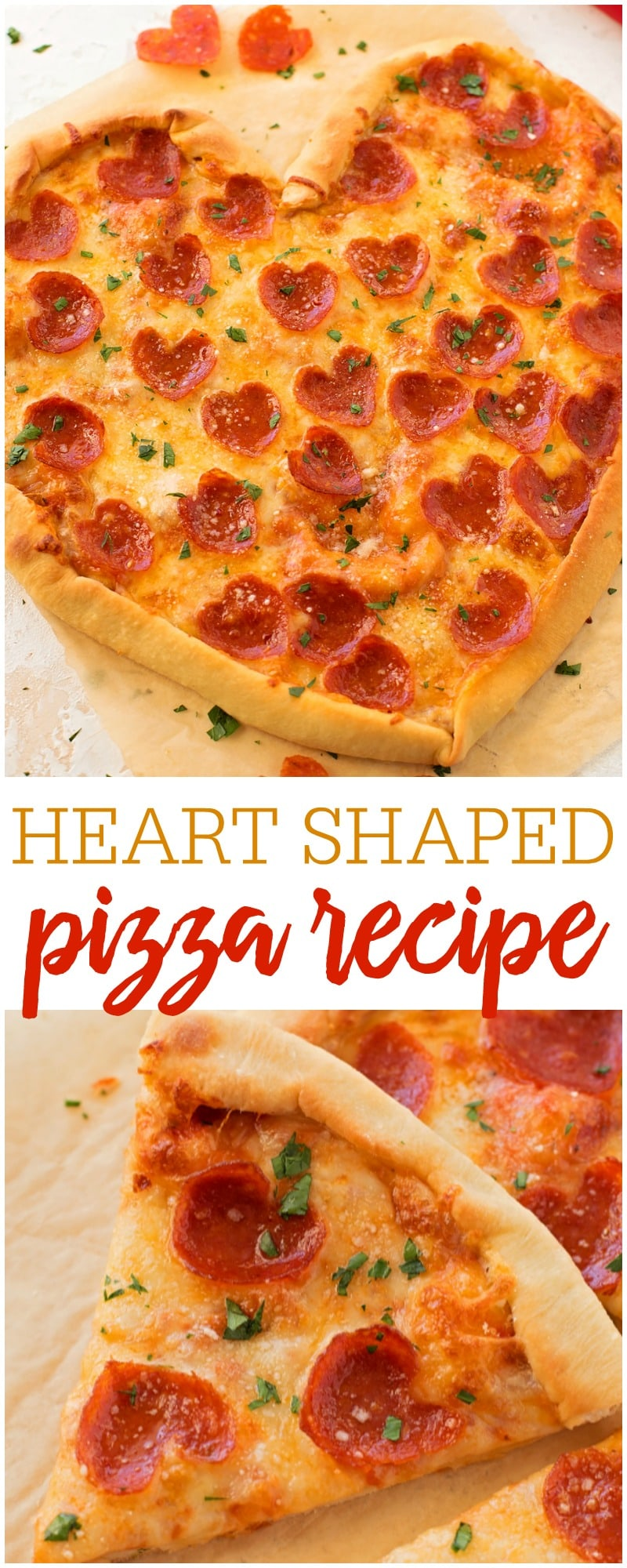 Heart Shaped Pizza - a delicious homemade pizza in the shape of a heart! It's perfect for Valentine's Day or special occasions.