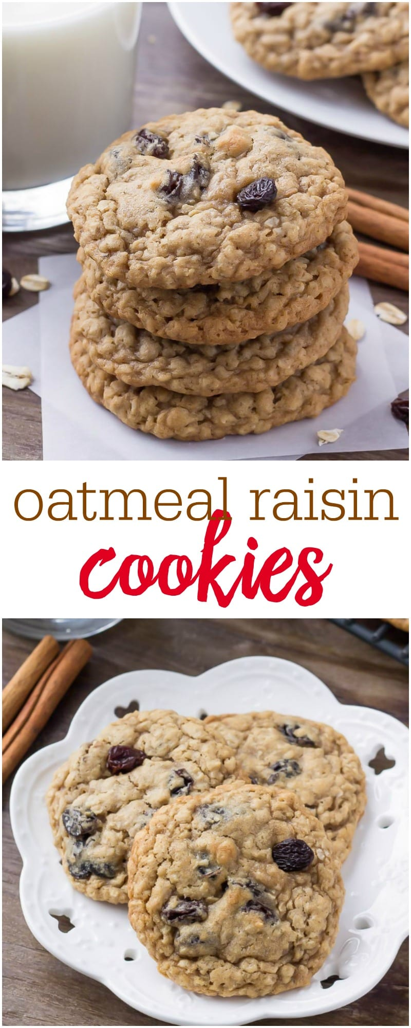 These oatmeal raisin cookies are soft and chewy with a hint of cinnamon. It's a quick and easy recipe that you can make in under 30 minutes from start to finish.