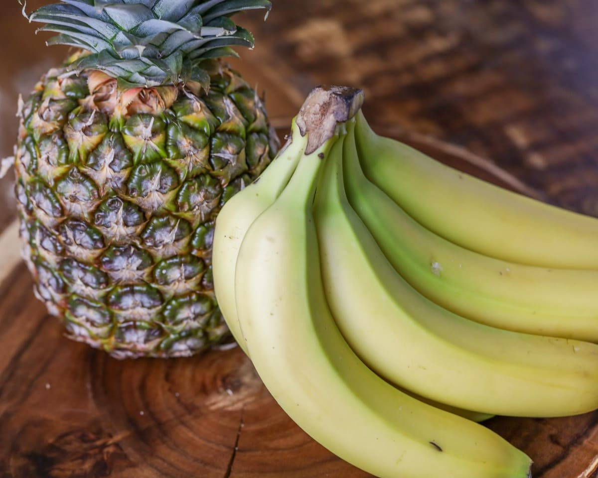 Pineapple and Bananas for Smoothie