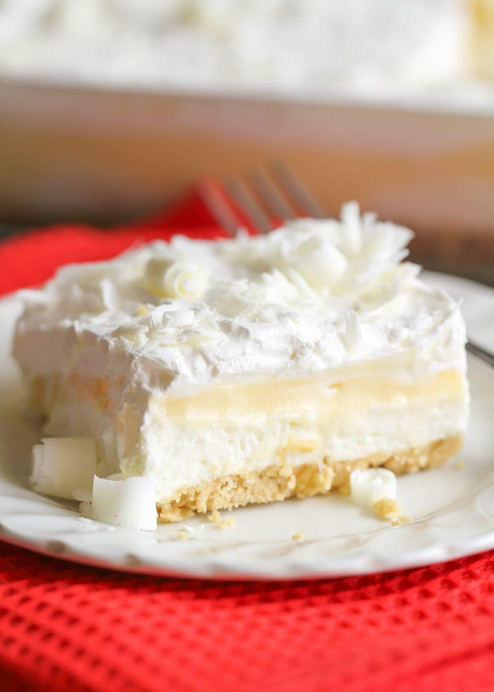 White chocolate lasagna recipe