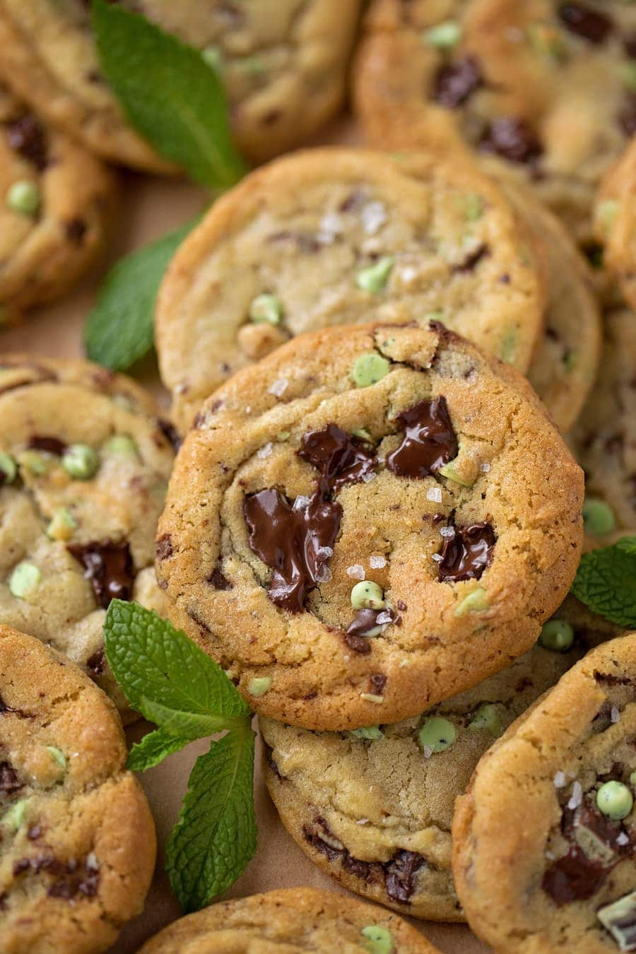 Best Mint Chocolate Chip Cookies Lil Luna