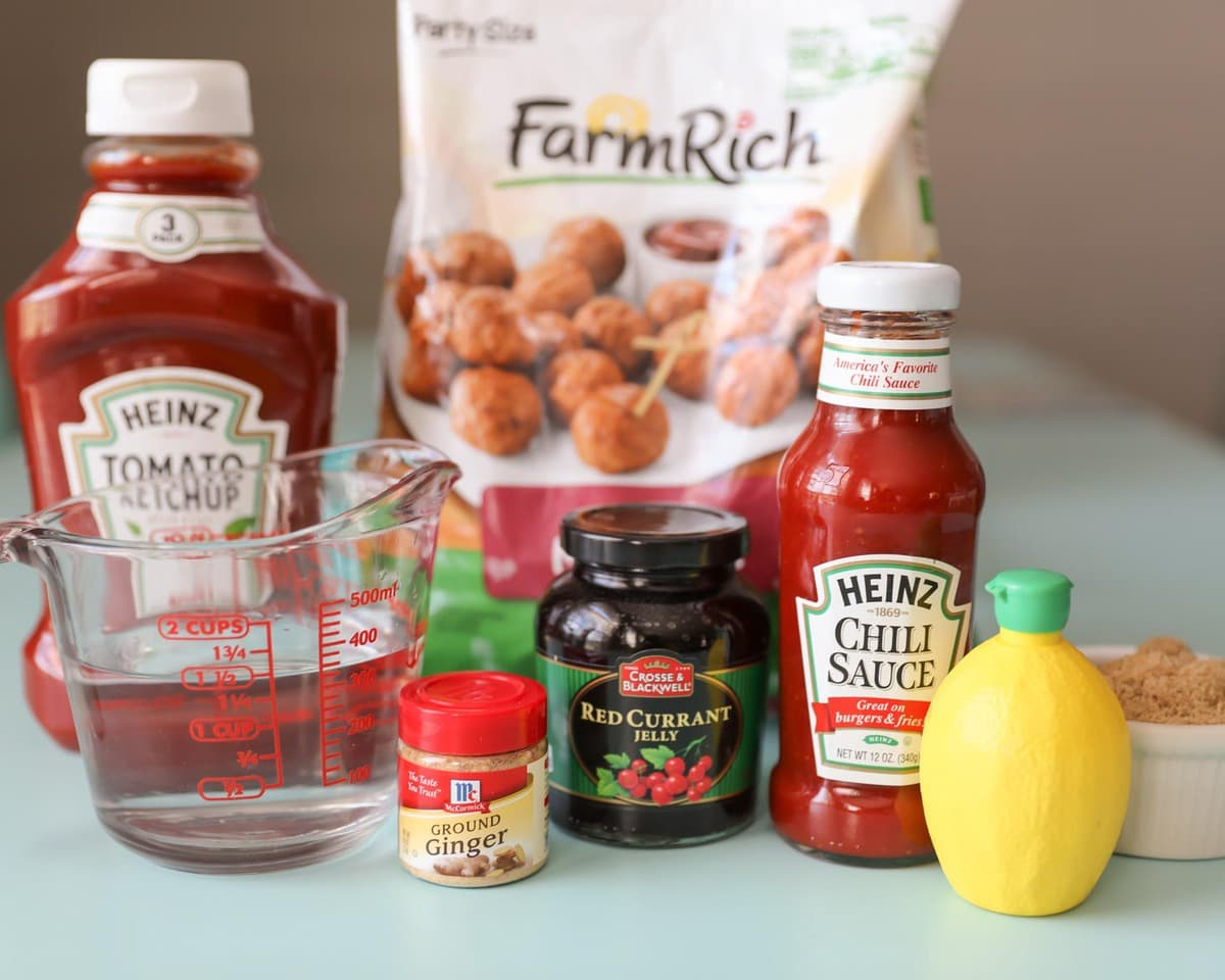 Crockpot Meatballs Ingredients