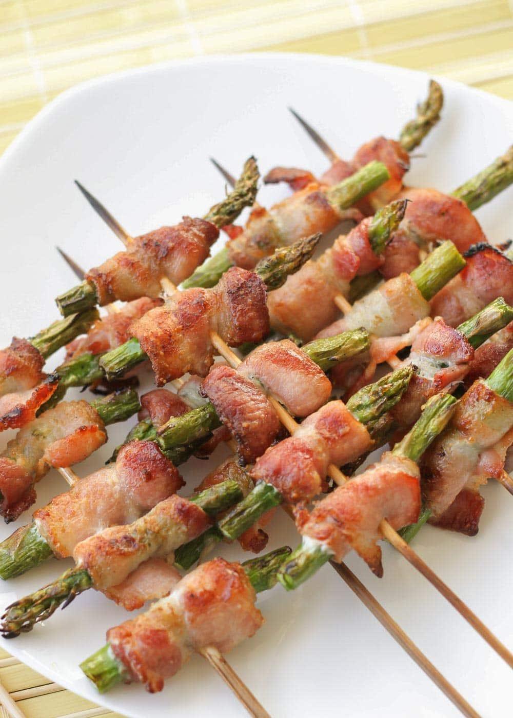 """Bacon wrapped asparagus skewers """"Safari Skewers"""""""