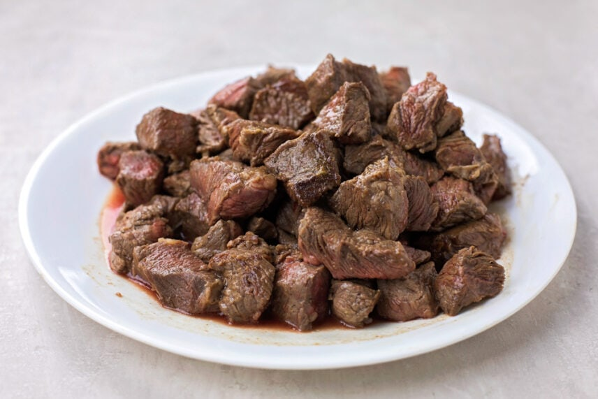 Beef cubes for Beef Lo Mein