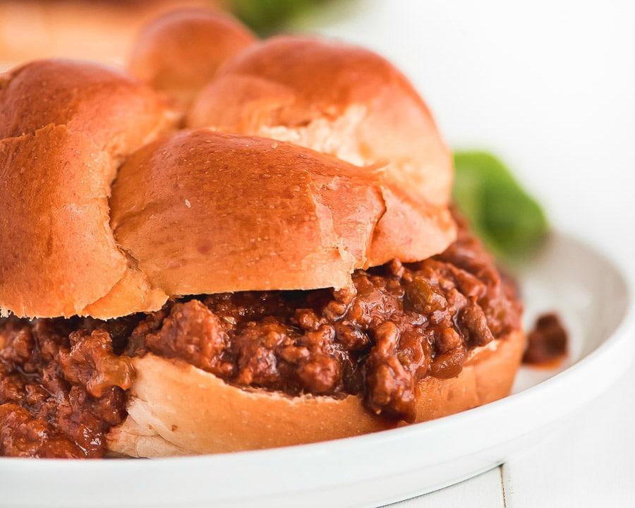 Homemade Sloppy Joes oh challah buns